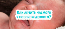 Как лечить насморк у новорожденного?